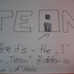 the I in Team neu